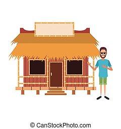 Beack kiosk stand vector illustration graphic design