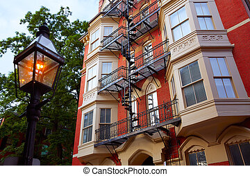 Beacon Hill Boston in Massachusetts