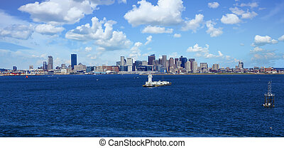 Beacon in Boston Harbor