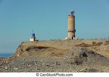 Beacon on the sea coast