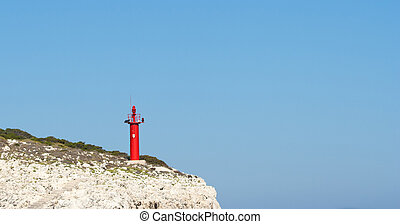 beacon on top of the cliff