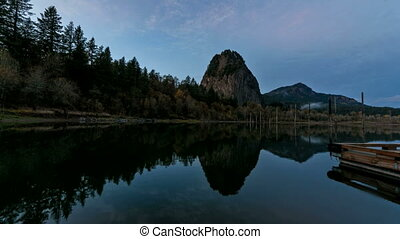 Beacon Rock State Park Timelapse - Time Lapse Movie of...