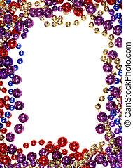 bead string outline - vertical image of border outline frame...