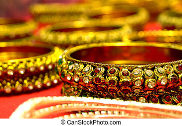 Beaded Bangles for sale in Indian Fashion store
