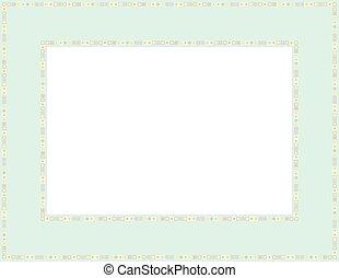 Beaded frame