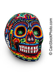 Beaded skull isolated on white