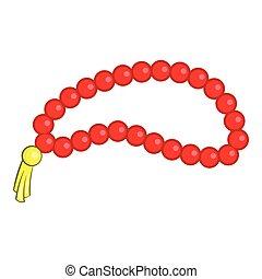 Beads icon, cartoon style