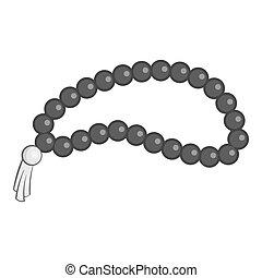 Beads icon, gray monochrome style