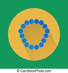 Beads icon vector.
