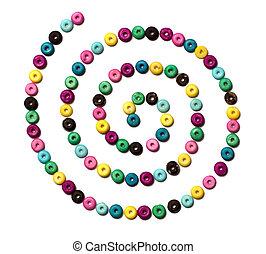 Beads spiral