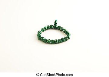 beads - green beads