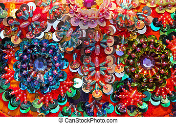 Beads - Artistic background made of decorative colorful...