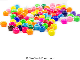 Beads - The colorful beads isolated on white background
