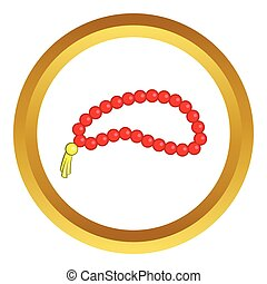 Beads vector icon