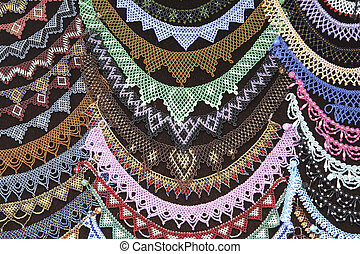 Beadwork background - Abstract background image generated by...