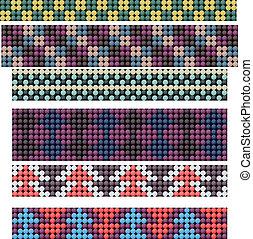 Beadwork - Seamless beadwork ornaments collection