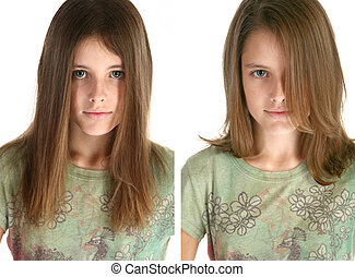 Beafore and After Hair Cut