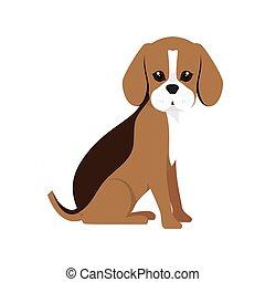 beagle breed dog cartoon