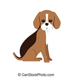 beagle breed dog cartoon