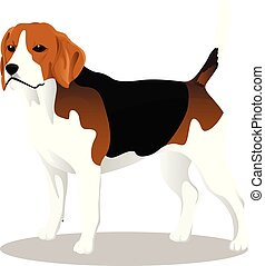 Beagle cartoon dog
