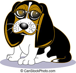 Beagle Dog Cartoon Clip Art - Beagle dog cartoon clip art.