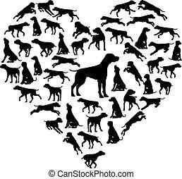 Beagle Dog Heart Silhouette Concept - A Beagle dog heart...