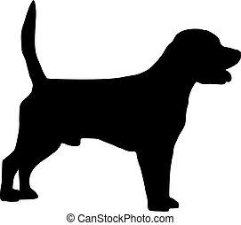 Beagle dog silhouette