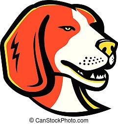 Beagle-HEAD-MASCOT - Mascot icon illustration of head of a...