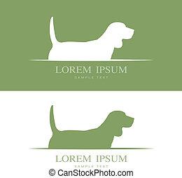 beagle, image, vecteur, chien