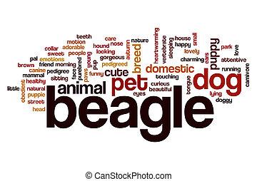 Beagle word cloud concept