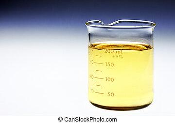 Beaker of bio fuel