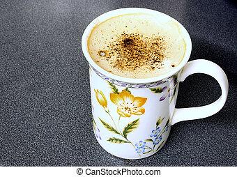 beaker of coffee
