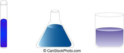 beakers - test tube, flask, and beaker used for biological...