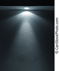 Beam from flashlight closeup on paper - White Light Beam...