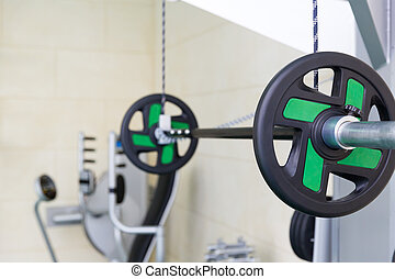 Beam in fitness gym