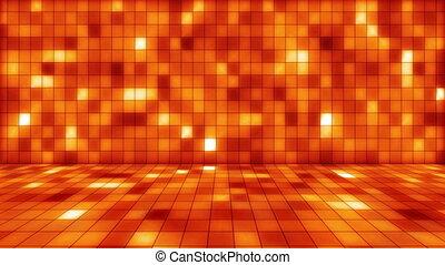 beaming orange squares musical loop