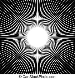 beams., radial, rayos, starburst, líneas, irradiar, pattern.