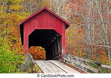 Bean Blossom Covered Bridge in Fall