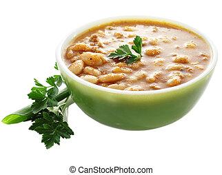 bean soup  - a bowl of bean soup