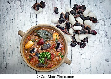 Bean soup - The healthy honest homemade bean soup