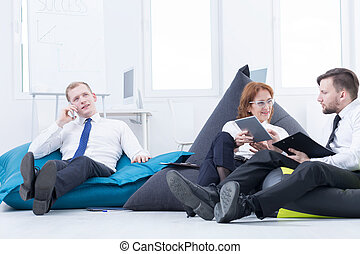 Beanbag space at office