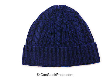 Beanie hat isolated on the white background