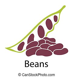 Beans icon on white background. Vector illustration.