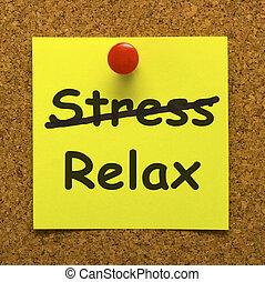 beanspruchen, entspannen, ausstellung, weniger, merkzettel, tempus