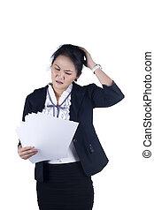 beanspruchen, frauenunternehmen, lesende , reports., unglück