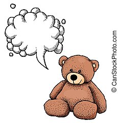 bear-100, imagen, caricatura, teddy
