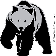 Bear - Abstract vector illustration of bear