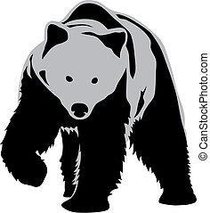 Bear - Abstract vector illustration of bear