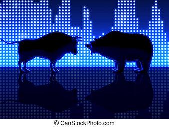 Bear And Bull Silhouette Graphs