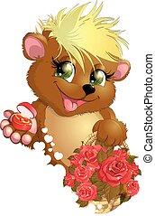 bear and flower